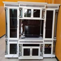 Bufet Tv - Lemari Partisi Besar Penyekat Ruangan Bahan Alumunium Kaca