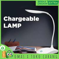 Lampu Meja Baca / Lampu Belajar 14 LED 3 Mode sentuh model 2
