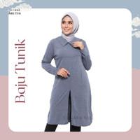 Baju Big Size Jumbo Atasan Muslimah Tunik Murah Cewek Wanita Kekinian - Abu T