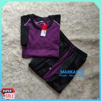 UZ608 YE167 Stelan Senam wanita Baju Trening Olahraga Muslim Bagus