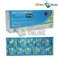 METFORMIN 500 MG STRIP 10 TABLET