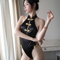 lingerie sexy wanita hot playsuit cheongsam China baju tidur