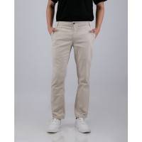 LIVEHAF - Tib Chino Long Pants Light Cream