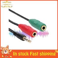 Bamaxis 1Pc 3.5mm 2 Male Plug to 1 Female Audio Mic Headset Splitte l2