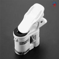Mikroskop Kaca Pembesar 60x Universal Mini Dengan Lampu Led / Uv