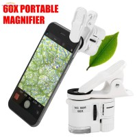 60X Mikroskop Klip Portable Universal dengan Lampu LED Mini untuk H r6
