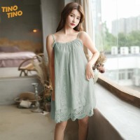 CIJI Baju Tidur Model Dress / Lace Piyama Tanpa Lengan