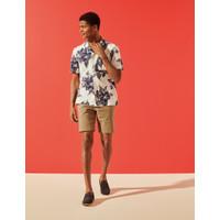 Marks & Spencer - Kemeja Pria - Linen Tropical Print Shirt