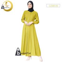Dress gamis wanita dewasa terlaris termurah kekinian mewah 2021 polos - LEMON