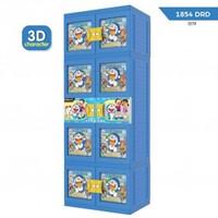 Lemari Plastik Naiba susun 4 Gantung Jumbo 3D Karakter Doraemon Murah