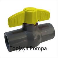 BALL VALVE PVC / STOP KRAN PVC PVBG 1/2 ONDA (TANPA DRAT)