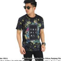 Import Laki Pria Kaos Tropical Baju Printing Cowo Motif Summer Termura