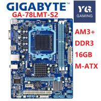 Set Motherboard 760G GIGABYTE GA-78LMT-S2 AM3 AM3 DDR3 16G Phenom