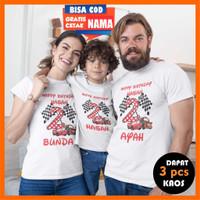 Baju Kaos Couple Keluarga Family Ulang Tahun Ultah Anak Laki -NEW