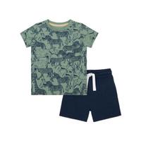 Mothercare Safari T-Shirt And Shorts Set - Setelan Bayi (Multi)