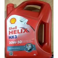 Terlaris Oli Shell Helix HX3 Hx 3 Sae 20w-50 1 Galon 4 liter 00462