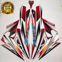 Terbagus striping yamaha scorpio z 225 2008 silver merah stike