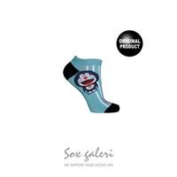 SOX GALERI - DORAEMON - Kaos Kaki Katun Sneaker Biru dan Abu