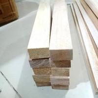 Kayu Balsa balok 2cm Block balsa strip 20MM x 2.5CM x 55cm 1pcs kayu l