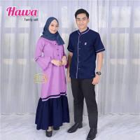 BAJU COUPLE HAWA SARIMBIT LEBARAN 2021 HAFIZHAFIZAH FAMILY GAMIS