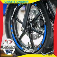 hw Stiker Velg Sticker Motor Decal Yamaha FreeGo free go Merah Putih