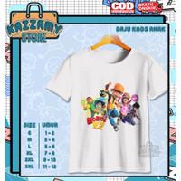 Baju Kaos Anak Boboi Boy And Friend's - Kazzamy Store - Putih, S