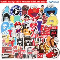 102Pcs/Set ❉ Fashion Brand Logo - Kaws & S U P-R E M E & BAPE AAPE S