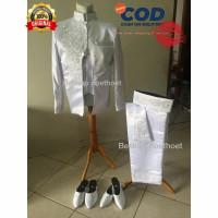Barang READY bukan PO Jas putih akad nikah jas mc modern baju