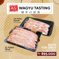 MEATBANK KOBE A5 WAGYU SLICE COMBO Misuji Karubi Japan Beef Teppanyaki