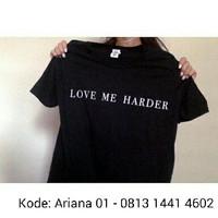 Promo kaos tshirt baju Ariana Grande Love me harder Diskon