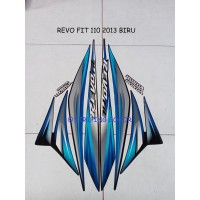 Striping Stiker Motor Honda Revo Fit 2013 Lis Biru