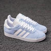 Sepatu Wanita Adidas Gazelle Blue Ice Original Bnwb - 36