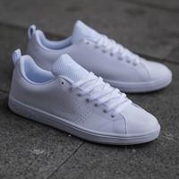 Sepatu Pria & Wanita Adidas Advantage Full White - Putih, 39
