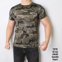 Kaos ARMY PRIA baju Loreng hijau army tentara gym camo fitness running