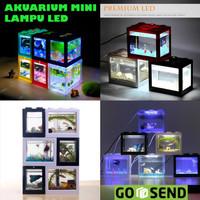 Aquarium Mini Acrylic Lego USB LED Colour - MODEL C