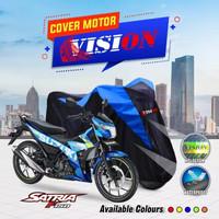 TERMURAH Body Cover Motor Satria Sonic Smash Supra X Revo - Biru