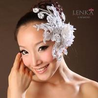 Aksesoris Headpiece Sanggul Wedding Putih l Hairpieces Lenka - AWM010