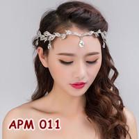 Aksesoris Tiara Pesta Wedding-Headpiece Crown Sanggul Pengantin-APM011