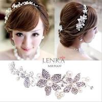 Tiara Sanggul Rambut Bunga Wedding l Aksesoris Lenka - MRP009