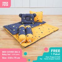 Bedcover Bayi Premium Hellafella Motif Starrynite Yellow X Navy KD