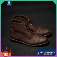 AX968 EY175 Force Brown Boots Coklat Sepatu Casual Ori Boot Docmart Pr
