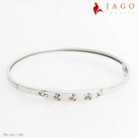 Jago Jewelry Gelang Emas Nese - Perhiasan Emas 17K-W