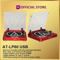 FREE ONGKIR - Audio Technica AT-LP60 USB Fully Automatic Stereo