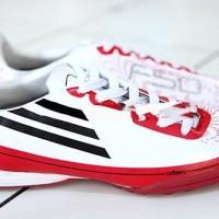 Sepatu Futsal Adidas F50 Adizero II (Tapak Gerigi) - Putih Merah