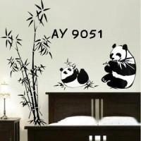 Wall Stiker Uk.60x90 Wall Sticker Dinding Panda Bambu Hitam