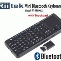 Riitek RT-MWK02 : Wireless Mini Keyboard Mouse Bluetooth + Laser Pointer