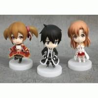 Sword Art Online Set Figure ( Asuna, Kirito, Silica Rare)