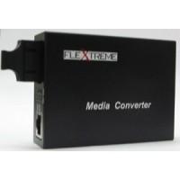 Flextreme FL-8110GSA-11-20-AS Media Converter 10/100/1000 Mbps to 1000LX, Single-Mode 20 Km, SC
