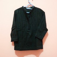 Baju Atasan Wanita Motif Hitam Polos / Blouse Wanita