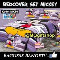 BEDCOVER + SPREI + SARUNG BANTAL MICKEY MOUSE